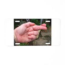 cross your fingers Aluminum License Plate