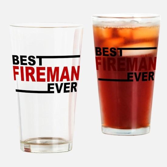 Best Fireman Ever Drinking Glass