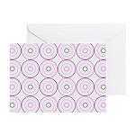 Pink & Black Retro Greeting Cards (Pk of 20)