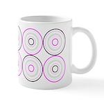 Pink & Black Retro Ceramic Coffee Mug