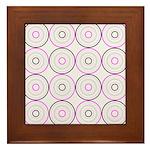 Pink & Black Retro Framed Tile