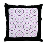 Pink & Black Retro Throw Pillow