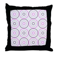 Pink & Black Retro Throw Pillow