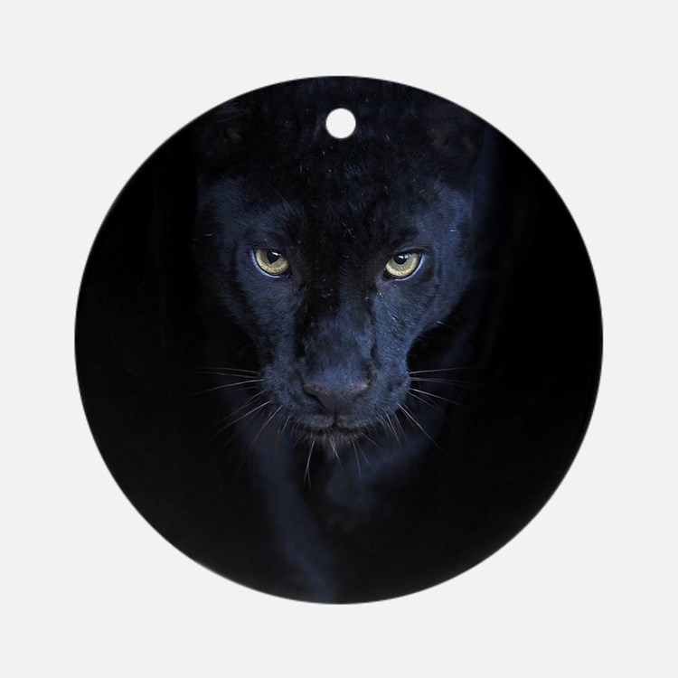 Black Panther Round Ornament