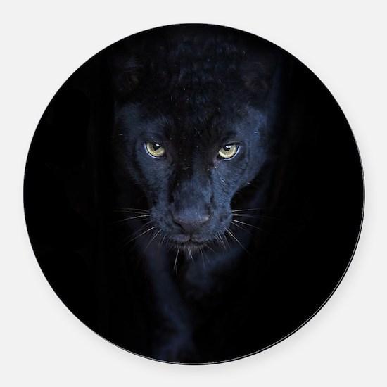 Black Panther Round Car Magnet