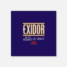 "Exidor Square Sticker 3"" x 3"""