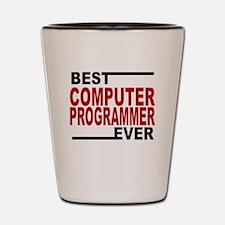 Best Computer Programmer Ever Shot Glass