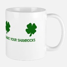 SHAKEyOURsHAMROCKS copy Mugs