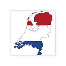 Dutch Flag Silhouette Sticker