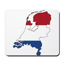 Dutch Flag Silhouette Mousepad