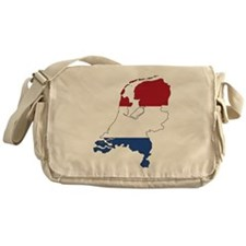 Dutch Flag Silhouette Messenger Bag