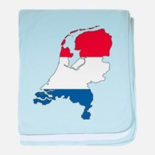Dutch Flag Silhouette baby blanket