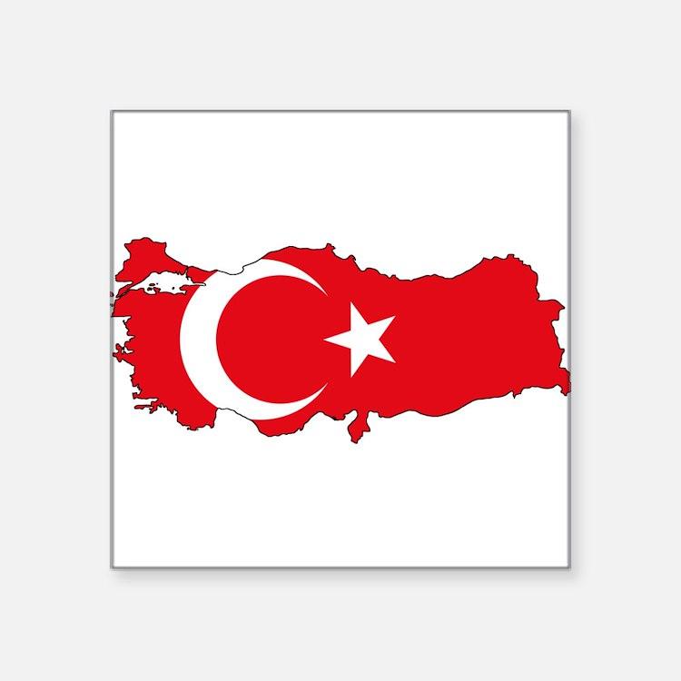 Turkish Flag Silhouette Sticker