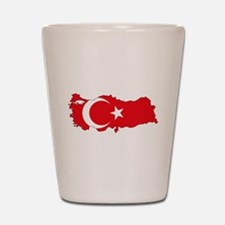 Turkish Flag Silhouette Shot Glass