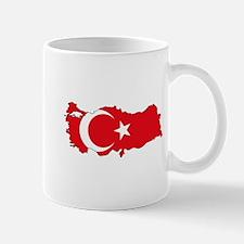 Turkish Flag Silhouette Mugs