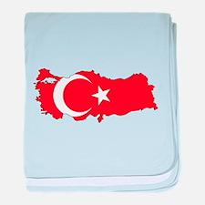 Turkish Flag Silhouette baby blanket