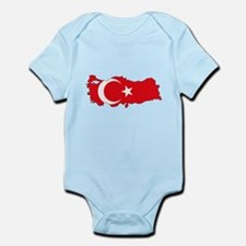 Turkish Flag Silhouette Body Suit