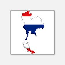 Thai Flag Silhouette Sticker
