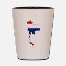 Thai Flag Silhouette Shot Glass