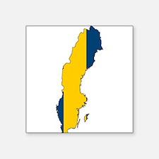 Swedish Flag Silhouette Sticker
