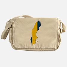 Swedish Flag Silhouette Messenger Bag