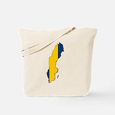 Swedish Flag Silhouette Tote Bag