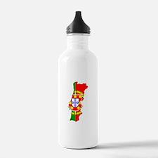 Portuguese Flag Silhouette Water Bottle