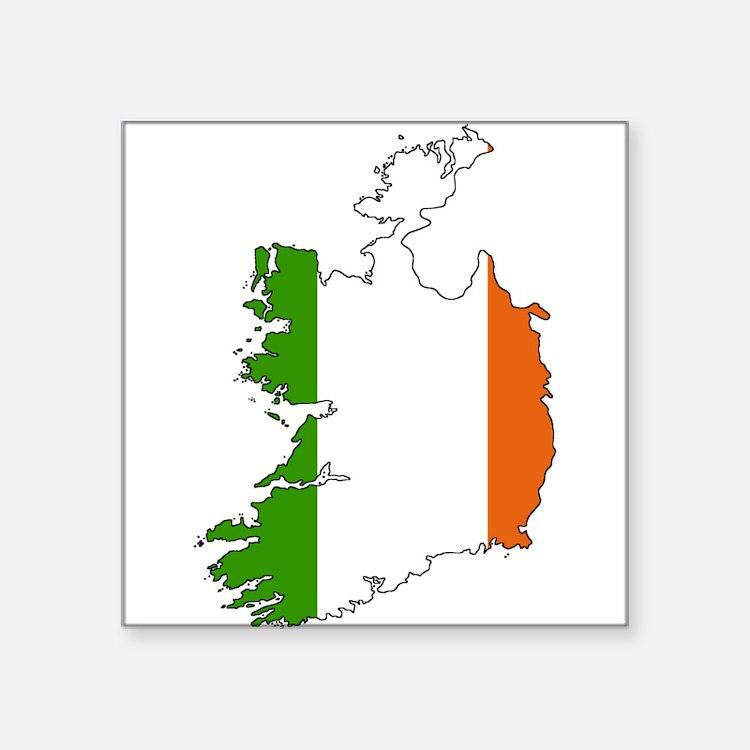 Irish Flag Silhouette Sticker