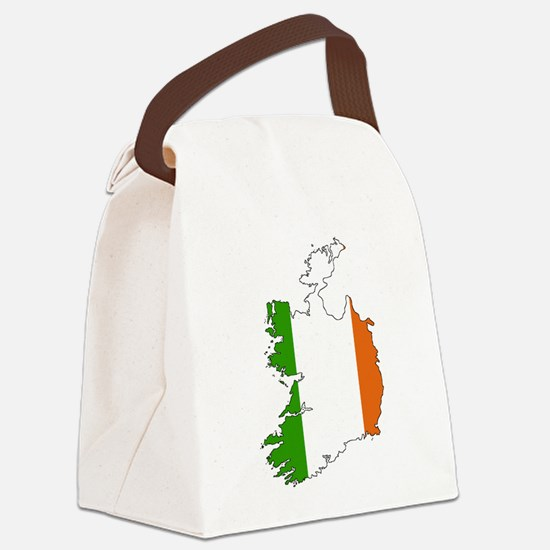 Irish Flag Silhouette Canvas Lunch Bag