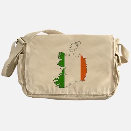 Irish Flag Silhouette Messenger Bag