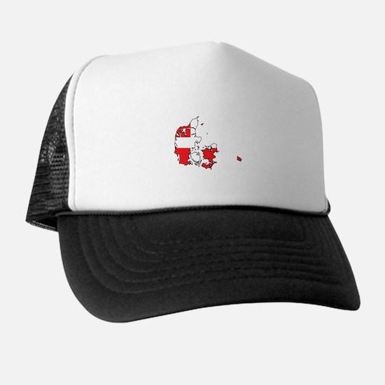 Danish Flag Silhouette Trucker Hat