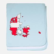 Danish Flag Silhouette baby blanket