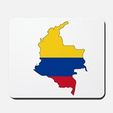 Colombian Flag Silhouette Mousepad
