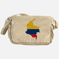 Colombian Flag Silhouette Messenger Bag