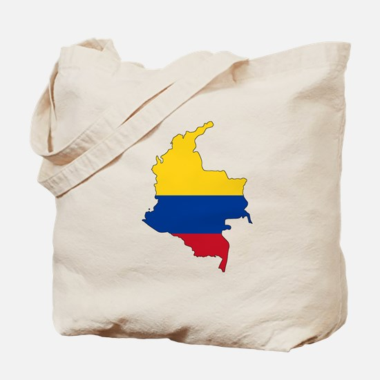 Colombian Flag Silhouette Tote Bag