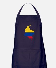 Colombian Flag Silhouette Apron (dark)