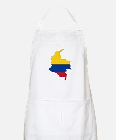 Colombian Flag Silhouette Apron