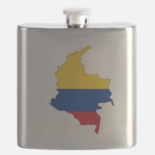 Colombian Flag Silhouette Flask