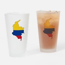 Colombian Flag Silhouette Drinking Glass