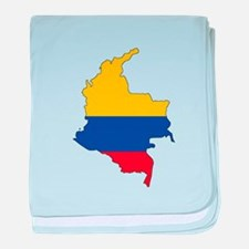 Colombian Flag Silhouette baby blanket