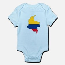 Colombian Flag Silhouette Body Suit