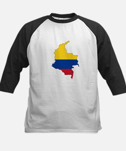 Colombian Flag Silhouette Baseball Jersey