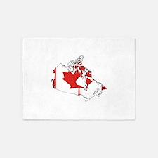 Canadian Flag Silhouette 5'x7'Area Rug