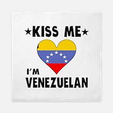 Kiss Me I'm Venezuelan Queen Duvet