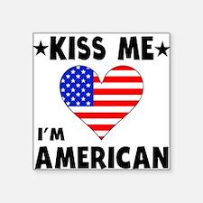 Kiss Me I'm American Sticker