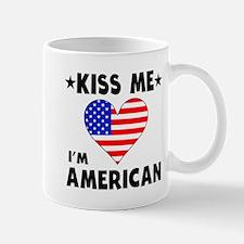 Kiss Me I'm American Mugs