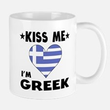 Kiss Me I'm Greek Mugs