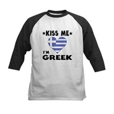 Kiss Me I'm Greek Baseball Jersey