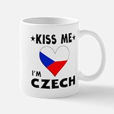 Kiss Me I'm Czech Mugs