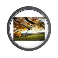 Autumn Leaves Items Wall Clock